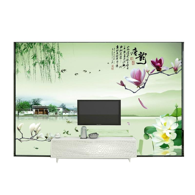 中式无缝大型壁画唐韵风景 客厅卧室无纺布墙纸 电视背景墙壁纸 3d