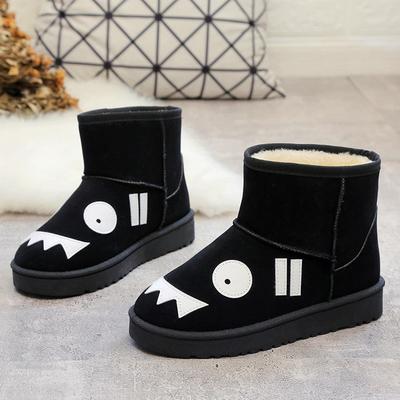15秋冬季女孩雪地靴子11短靴13中学生运动棉鞋12岁女大童40码冬鞋