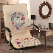 夏季办公椅子凉垫电脑椅垫老板椅坐垫带靠背连体靠垫防滑3d透气