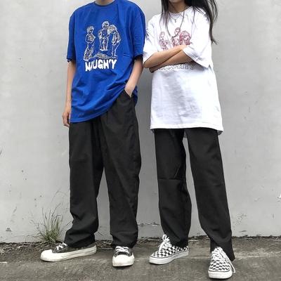 PUNIAMA 19SS主题元素撒尿小孩基础百搭t 情侣男女潮流短袖T恤tee