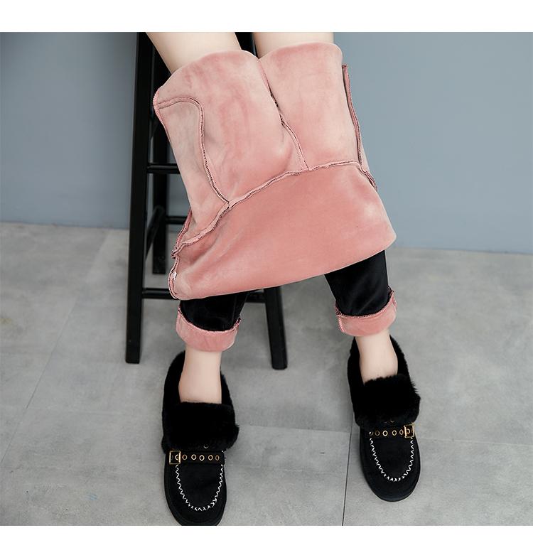 加绒加厚孕妇裤冬装特大码胖mm保暖外穿休闲裤200-300斤孕妇长裤