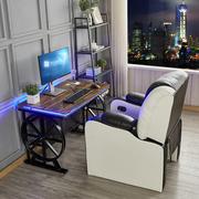 新款网吧桌椅可躺沙发椅网咖桌椅家用一体电竞台式单人办公电脑桌