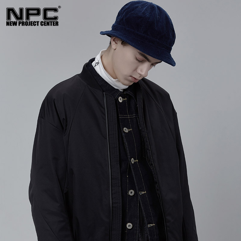 NPC潮牌POTE 50101985 素色棒球短棉服外套男女同款潮