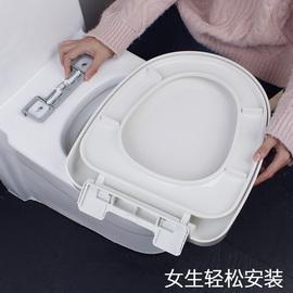 潜水艇马桶盖配件加厚坐便盖通用厕所板U型家用座便盖子老式坐圈图片