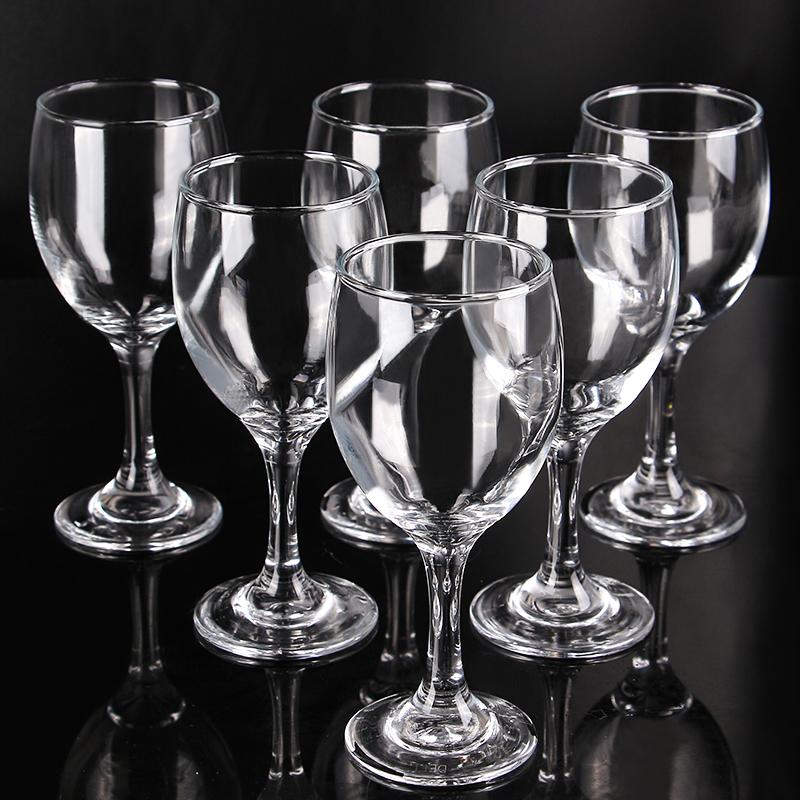 6只加厚玻璃红酒杯套装 高脚杯洋酒杯葡萄酒杯高脚白酒杯家用酒店
