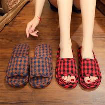 秋冬季棉拖鞋女室内家用防滑厚底居家情侣拖鞋冬天包跟保暖男