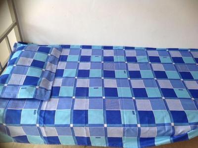 厂家定做床上纯棉三件套 学生宿舍上下铺床单被罩枕套学生三件套网友购买经历