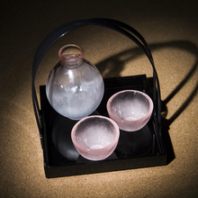 Japan imported Kwong Tin nitrate Hirota Cherry Blossom glass wine pot, pure handmade and wind wine set gift.