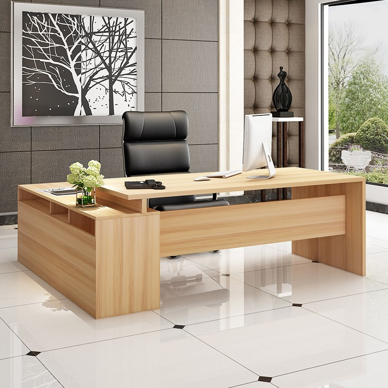 豪华新品台单人时尚办公桌大气桌老板简约新品桌大班总裁新款