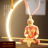 Qitian Dasheng inverted incense burner decoration Chinese Zen living room porch creative Sun Wukong fighting victory Buddha decoration