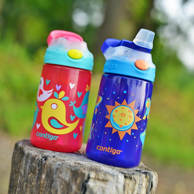 美国CONTIGO康迪克儿童水壶 吸管杯防摔防漏学生便携夏季宝宝杯子
