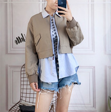 Polar elegant autumn shirt stitching fake two jackets Panyafeng leisure jacket female 3G3F405