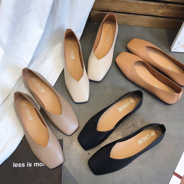 春季平底豆豆鞋