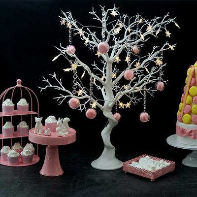 婚庆甜品台摆件 签到台装饰树 白色仿真树 橱窗展示可拆装许愿树