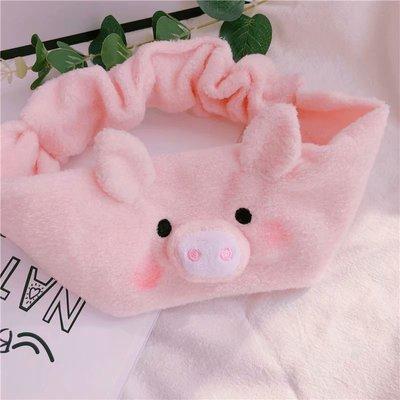 敲可爱!ins创意猪猪女孩束发带小猪清洁发带 洗漱发带头饰