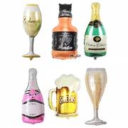 庆祝香槟酒杯扎啤铝箔气球求婚礼结婚庆生日派对新年装饰布置用品