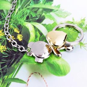 莱珍斯韩版创意可爱抱心小熊钥匙扣汽车钥匙扣挂链钥匙扣钥匙圈