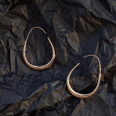 【迷度】简约韩国水滴耳圈个性气质百搭耳环女冷淡风 显脸瘦耳环