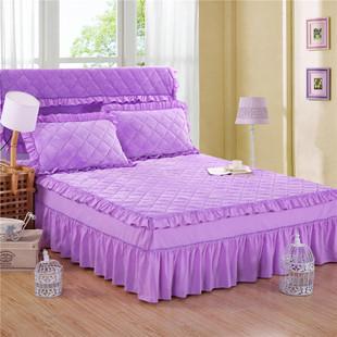 保暖法莱绒床裙珊瑚绒床罩单件加厚床套法兰绒床头罩席梦思保护套