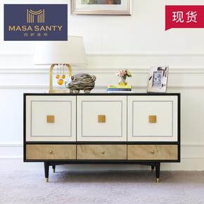 简约现代美式白色电视柜设计师样板房装饰柜客厅卧室家具轻奢定制