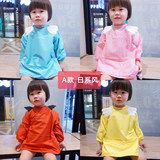 Devil Angel Wings Baby Anti-wear Long-sleeved Children's Dinner Wear Waterproof Bib Quick-drying Umbrella Paintings