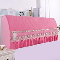 纯色床头套皮床全包软包弹力套防尘罩软包床头罩弧形靠背