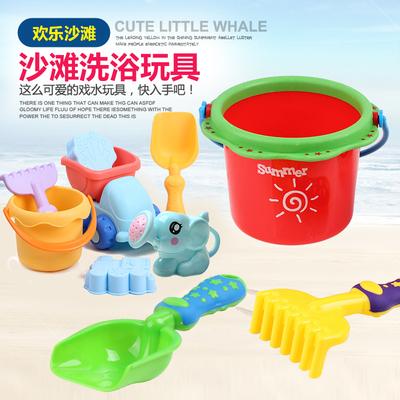小孩沙滩玩具铲子套装宝宝玩沙子工具儿童洗澡挖沙戏水枪洒水壶