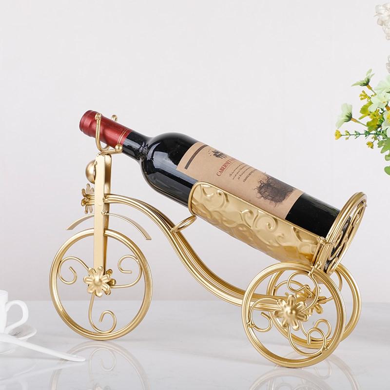 创意红酒架红酒杯架欧式葡萄酒架子时尚酒瓶架自行车高脚杯架摆件