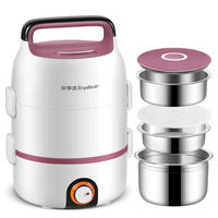 Rongshida electric lunch box can be plugged in electric heating automatic insulation mini hot rice artifact office worker with steamer 1 person 2