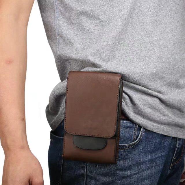 推荐6.5寸小米Max2手机包双层腰包皮套腰套MIX挂包袋竖穿皮带男士