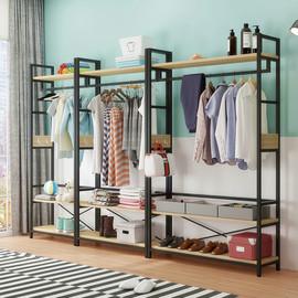 衣架落地卧室简易挂衣架衣帽架家用置物架衣服架子简约现代经济型图片