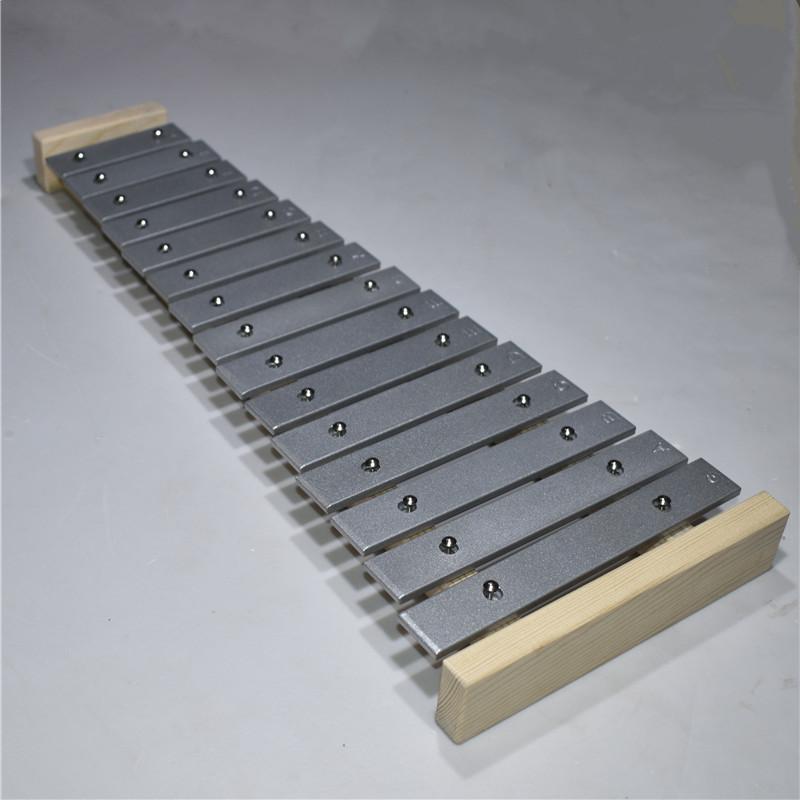 儿童奥尔夫乐器幼儿园宝宝锻炼节奏感音乐认知敲琴15音铝板琴木琴
