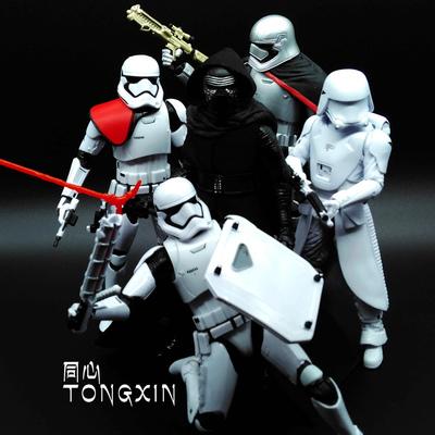 星球大战7 6寸克隆白兵可动人偶黑武士手办玩具模型 孩之宝摆件