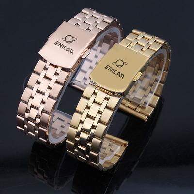 英纳格手表带 精钢不锈钢钢带 男女通用手表链配件 10 12 14 20mm