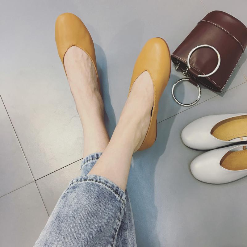 大牌圆头单鞋
