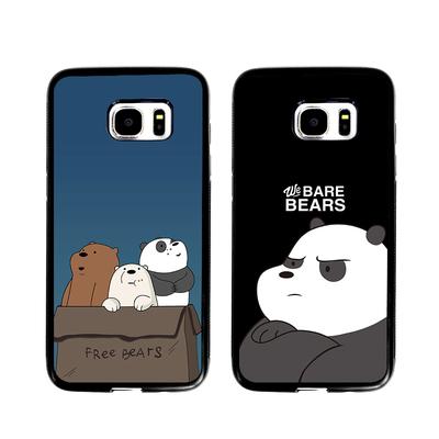 卡通熊猫三兄弟三星s7edge手机壳s10/s9/s8+硅胶s6保护套note589