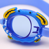 Set children's goggles HD waterproof anti-fog boys and girls teens big box swimming glasses kids cartoon