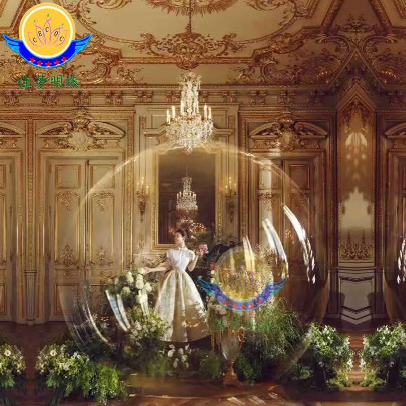 有机玻璃透明球婚庆道具超大型庆典礼堂展会亚克力圆球展示罩