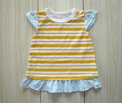 原单夏季女童纯棉短袖连衣无袖拼接公主裙女宝宝无袖T恤衫新款