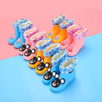 Child baby rain boots female child infant princess cute 1-5 non-slip water shoes children rain boots boys water boots