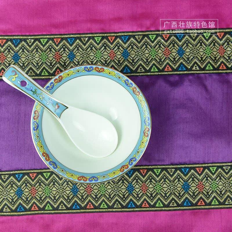 广西民族风餐桌垫 复古提花刺绣餐垫茶几布艺杯垫盘垫隔热垫西餐
