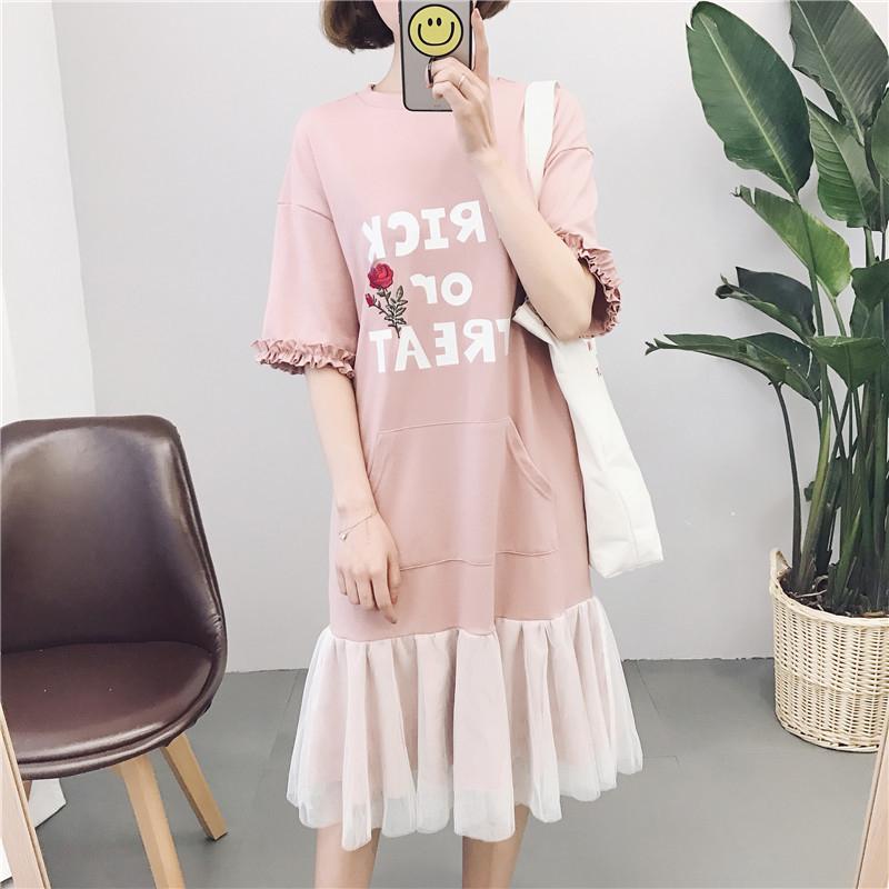 韩国印花裙子