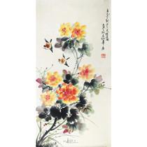 名人字画张世简三尺中堂精品手绘国画写意花鸟书房办公室礼品收藏