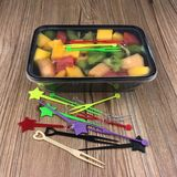 Fruit fork Disposable / fruit sign / color plastic small fork / snack fork KTV fruit plate toothpicks fork