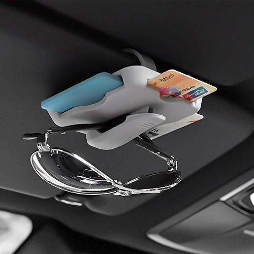 车载卡片收纳夹 夏季墨镜夹创意眼镜支架 汽车用遮阳板车内用品