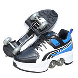 Vibrating multi-function Heelys deformation shoes four rounds invisible with wheels, shoes, skates, roller skates, students, women