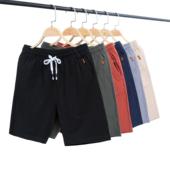 男士运动五分休闲裤夏季冰丝直筒短裤夏裤子韩版潮流宽松薄款透气