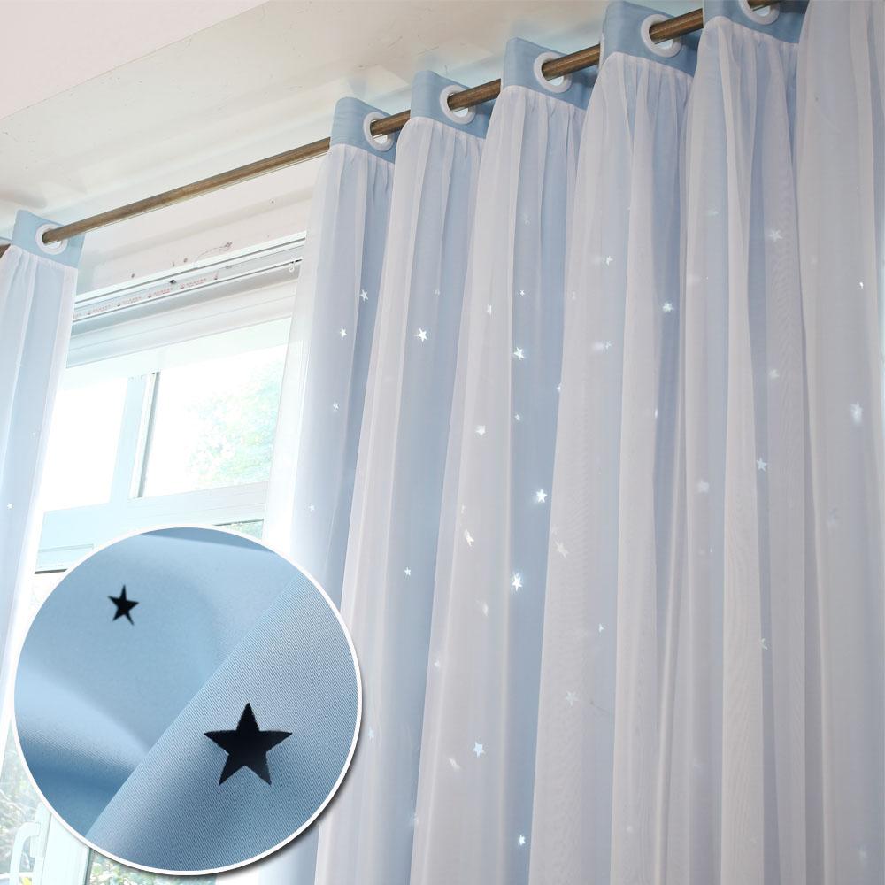 韩式田园星星窗帘