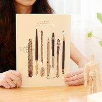 韩版厚素描本速写本小清新画画绘画本涂鸦本空白美术彩绘本子专业