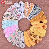 Children's insoles spring and summer seasons cotton cloth deodorant men and women baby can cut children's cotton insoles